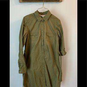 Sonoma army green shirt dress